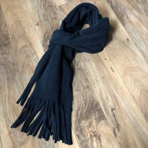 Old Navy Black Fleece Scarf-OS